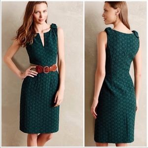 Anthro Tabitha bodycon sheath dress green wiggle 8